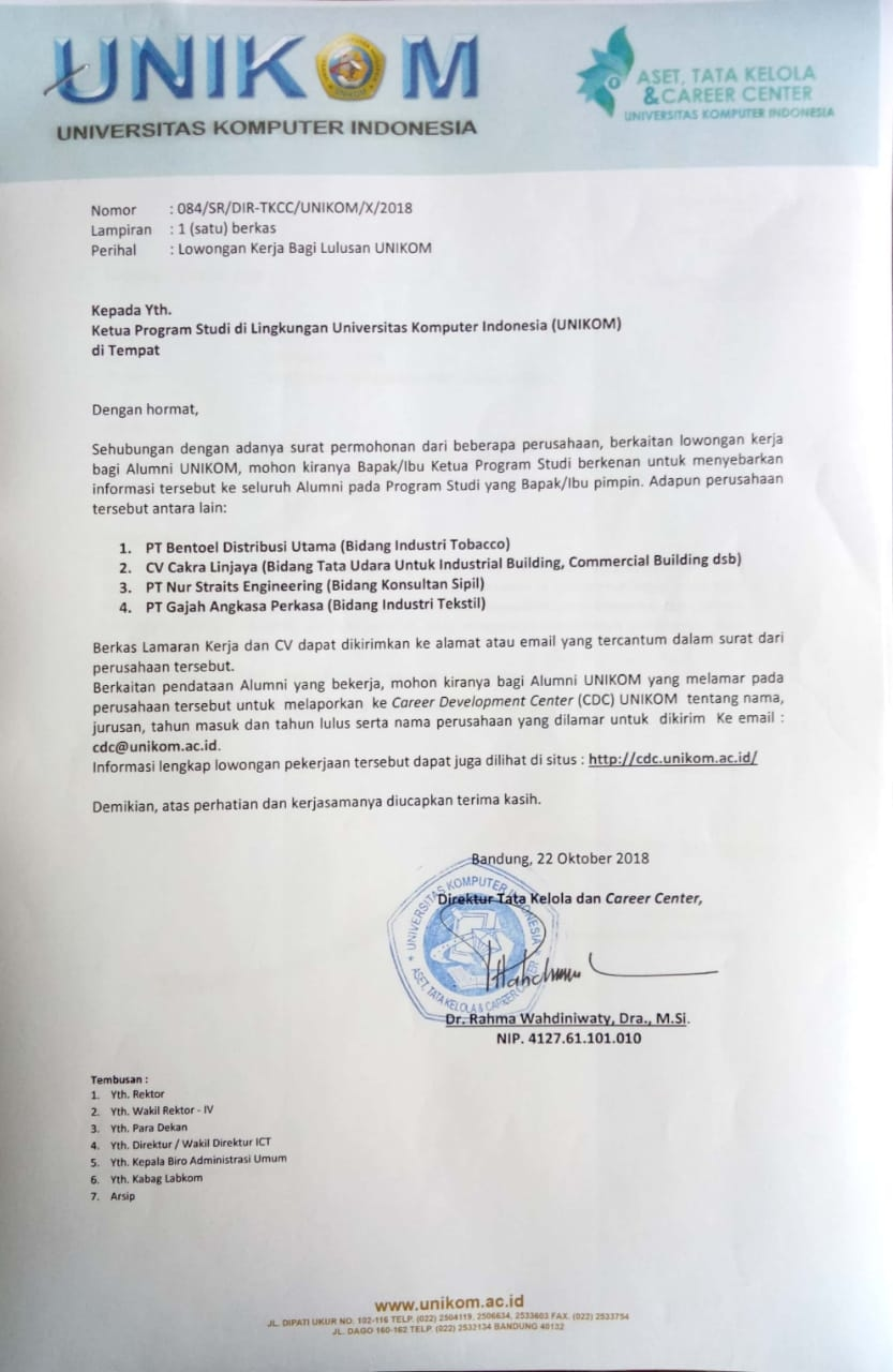 Admin Web Design Pt Nur Straits Engineering Career Development Center Unikom