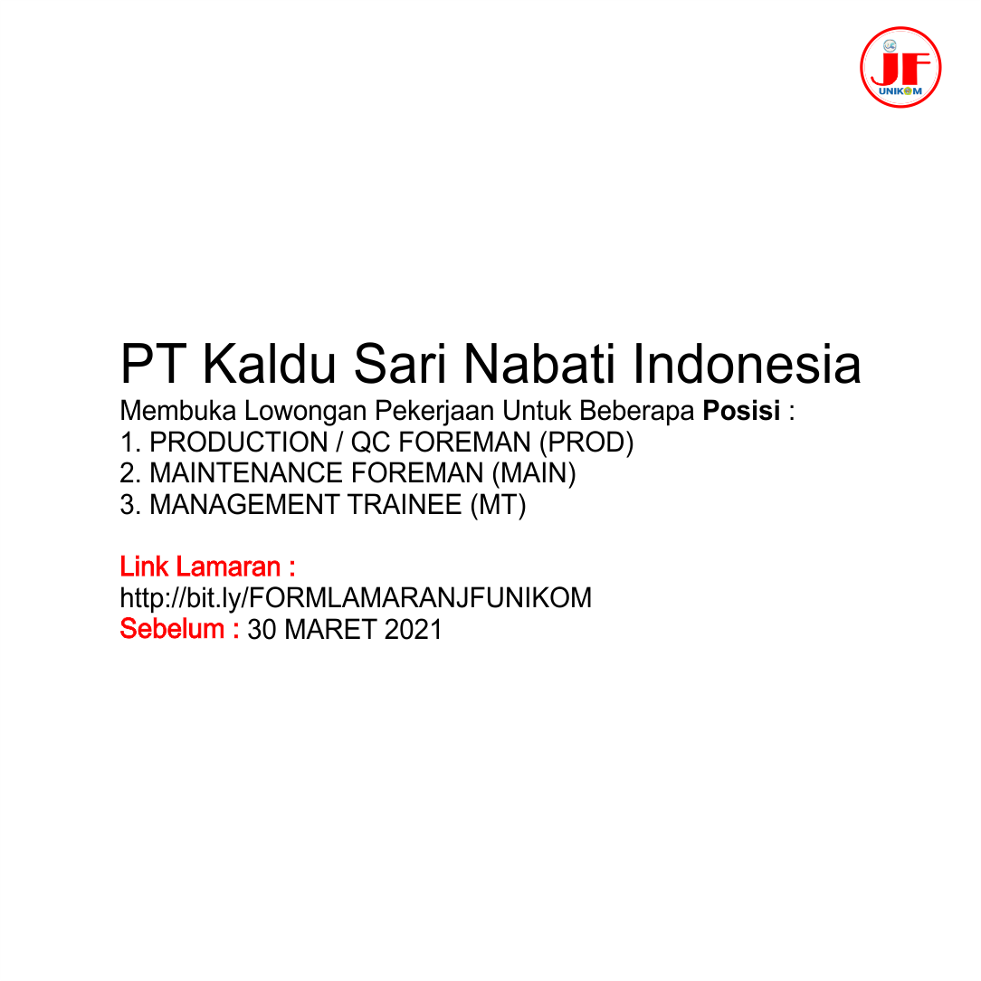 Pt Kaldu Sari Nabati Indonesia Career Development Center Unikom