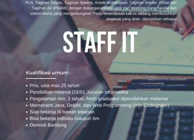 LOWKER UNTUK STAFF IT DI PT SINERGI MULTI SERVINDO
