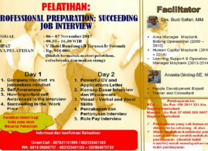 Pelatihan Profesional Preparation : Succeeding Job Interview